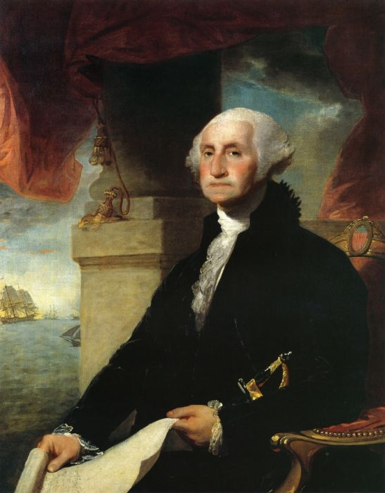 Gilbert Charles Stuart Reproductions-George Washington(The Constable-Hamilton Portrait), 1797