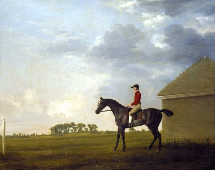 George Stubbs Reproductions-Gimcrack with John Pratt up on Newmarket Heath,1765