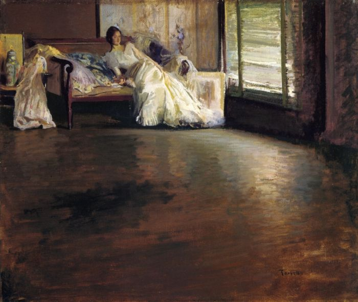 Paintings Reproductions Tarbell, Edmund Charles Across the Room, 1899