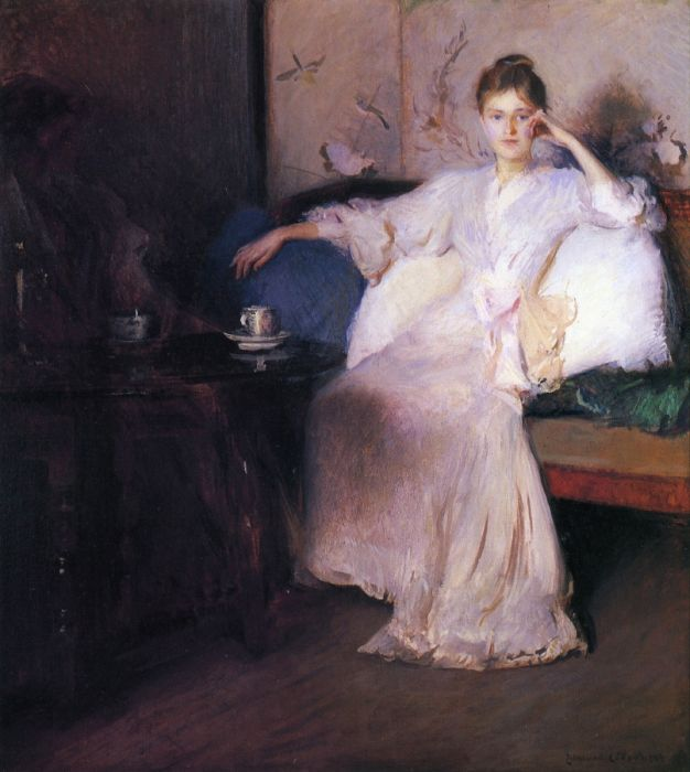 Paintings Reproductions Tarbell, Edmund Charles Arrangement in Pink and Gray, 1894