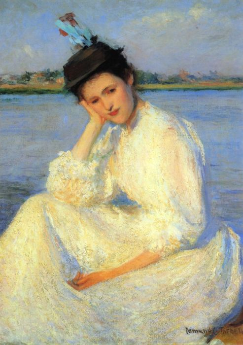 Paintings Reproductions Tarbell, Edmund Charles Portrait of a Lady, 1891