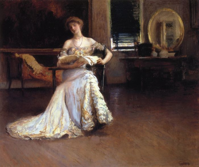 Paintings Reproductions Tarbell, Edmund Charles Quiet Afternoon, 1904