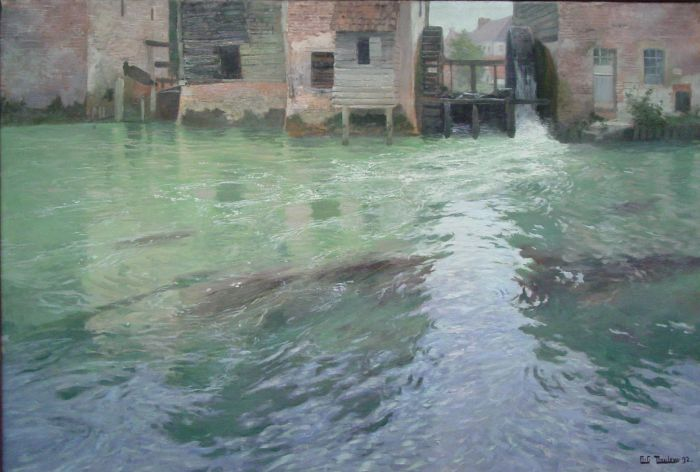 Frits Thaulow Reproductions-The Water Mill, 1892