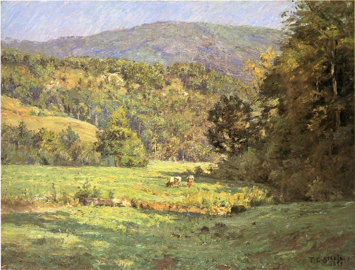 Paintings Reproductions Steele, Theodore Clement Roan Mountain, 1899