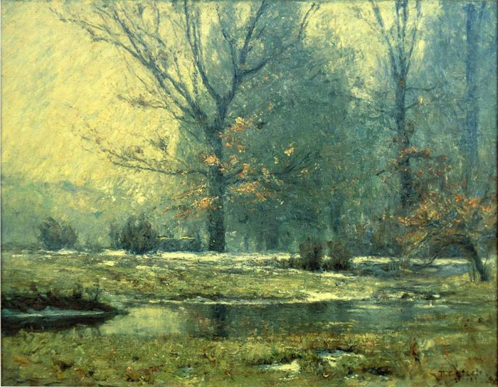 Paintings Reproductions Steele, Theodore Clement Creek in Winter, 1899