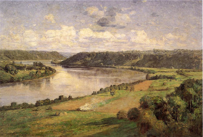 Paintings Reproductions Steele, Theodore Clement The Ohio river from the College Campus, Honover, 1892