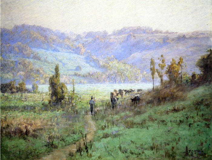 Paintings Reproductions Steele, Theodore Clement In the Whitewater Valley near Metamora, 1894