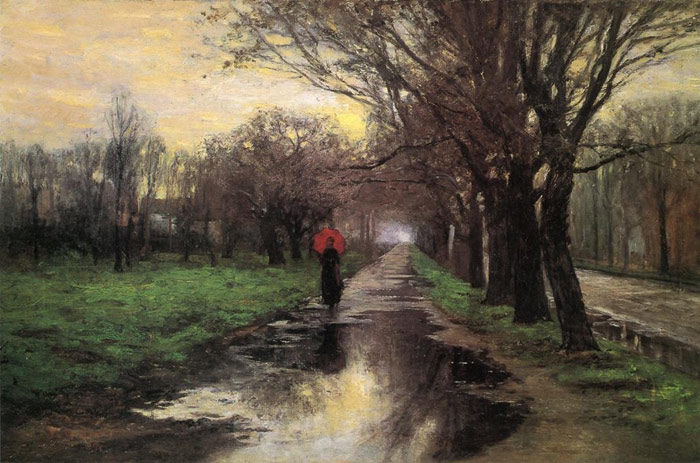 Paintings Reproductions Steele, Theodore Clement Meridian Street, Thawing Weather, 1887