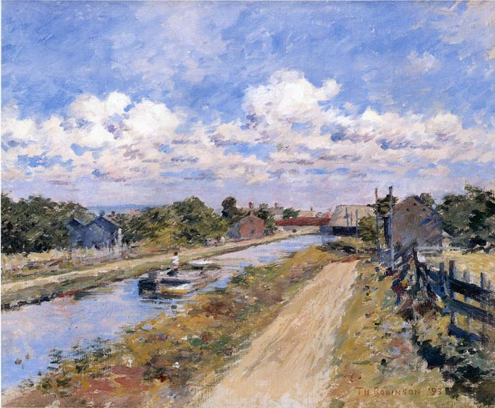 Theodore Robinson Reproductions-On the Canal (of Port Ben Series), 1893