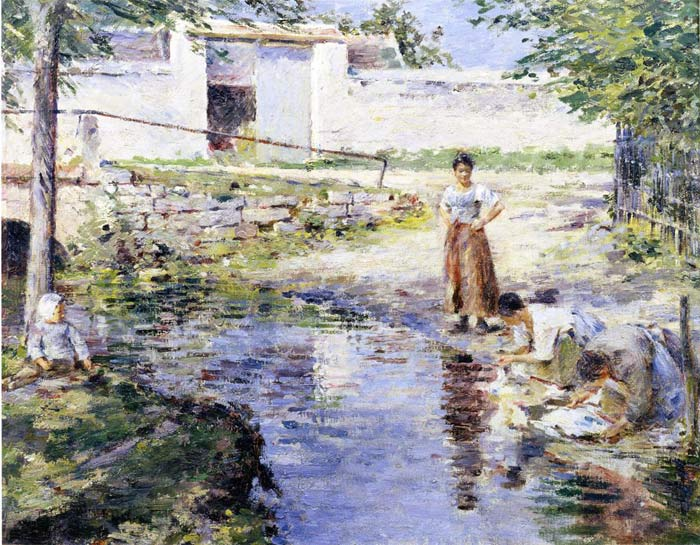 Theodore Robinson Reproductions-Gossips, 1891