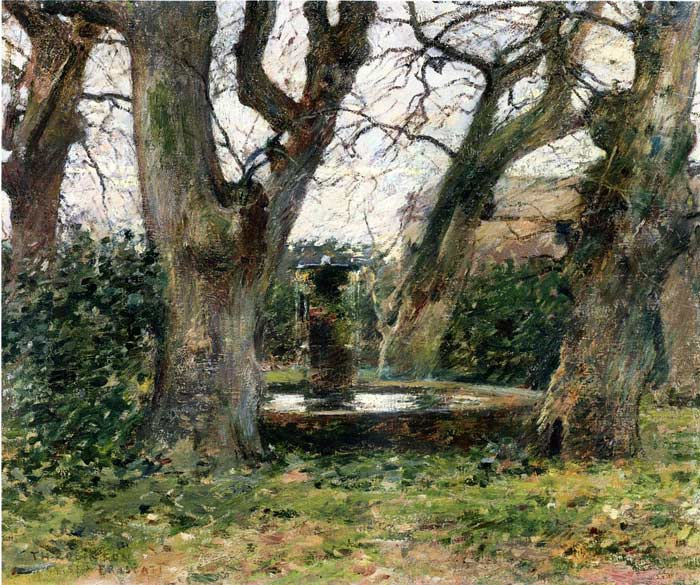 Theodore Robinson Reproductions-Italian Landscape with a Fountain, c.1891