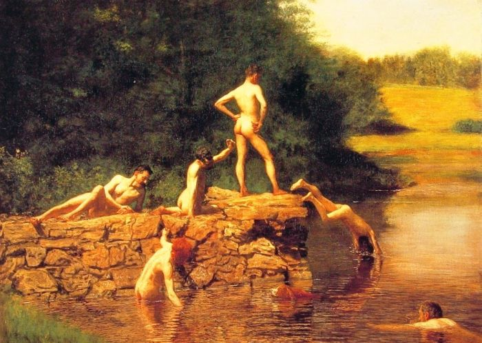 Thomas Eakins Reproductions-The Swimming Hole, 1883