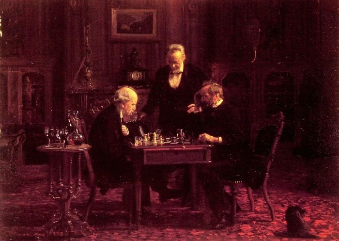 Thomas Eakins Reproductions-The Chess Players, 1876