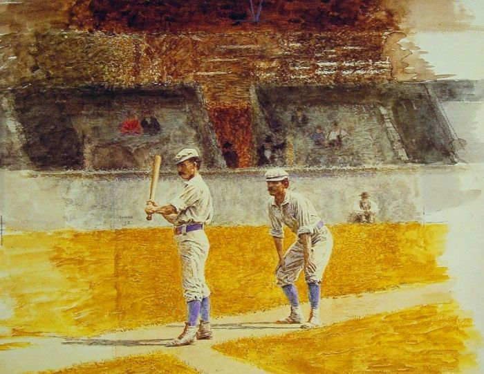 Thomas Eakins Reproductions-Baseball Players Practicing, 1875