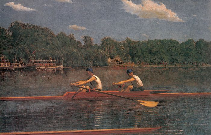 Thomas Eakins Reproductions-The Biglin Brothers Racing, 1873