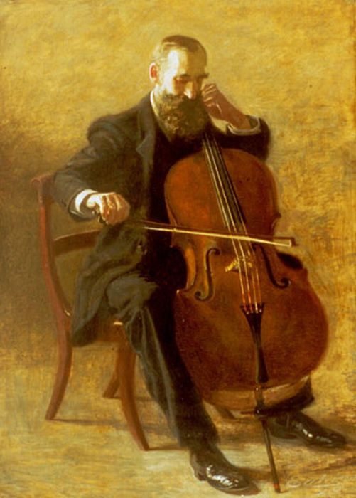 Thomas Eakins Reproductions-The Cello Player, 1896