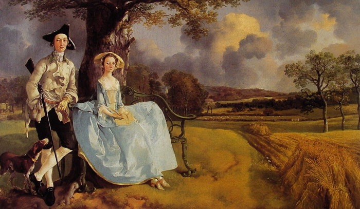 Thomas Gainsborough Reproductions-Mr and Mrs Andrews, 1748-1749