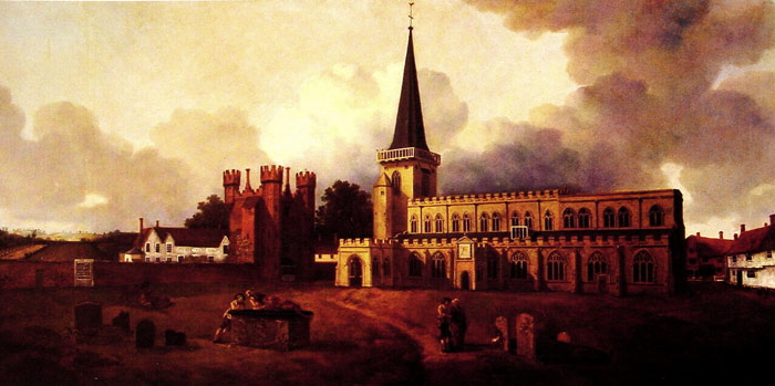 St. Mary's Church, Hadleigh, c.1748-1750 Gainsborough, Thomas Painting Reproductions