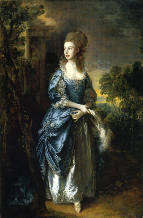 Thomas Gainsborough Reproductions-The Hon. Frances Duncombe, 1777