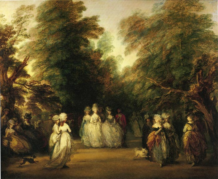 Thomas Gainsborough Reproductions-The Mall in St. James's Park, 1783