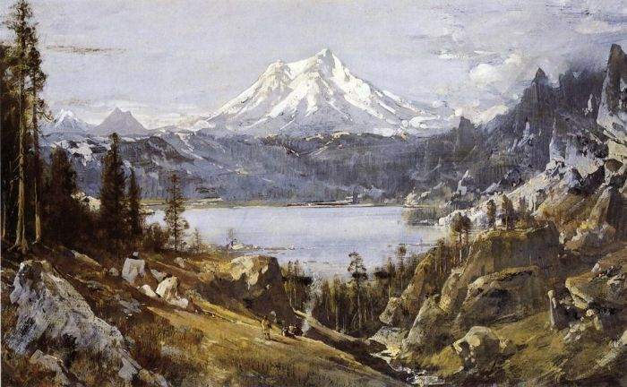 Thomas HillReproductions-Mount Shasta from Castle Lake, 1888