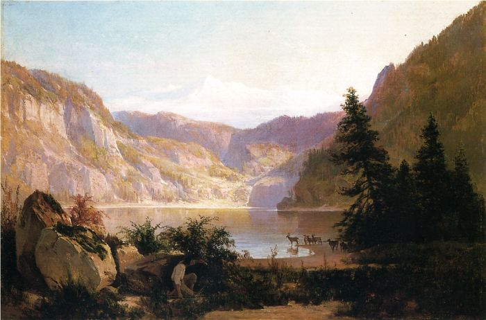 Thomas HillReproductions-Mountain Lake, 1887