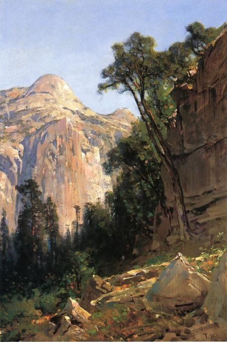 Paintings Reproductions Hill, Thomas North Dome, Yosemite Valley, 1870