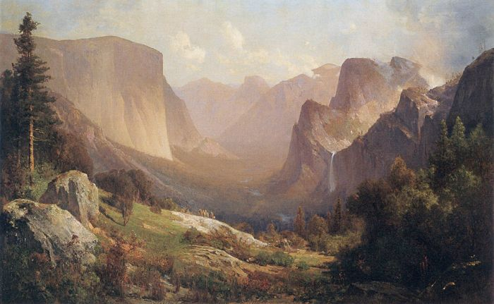 Paintings Reproductions Hill, Thomas View of Yosemite Valley, 1871