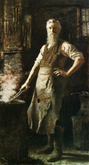 Paintings Reproductions Hovenden, Thomas The Village Blacksmith