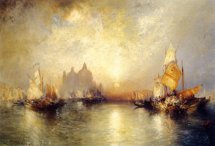 Thomas Moran Reproductions-Entrance to the Grand Canal, Venice,   1906