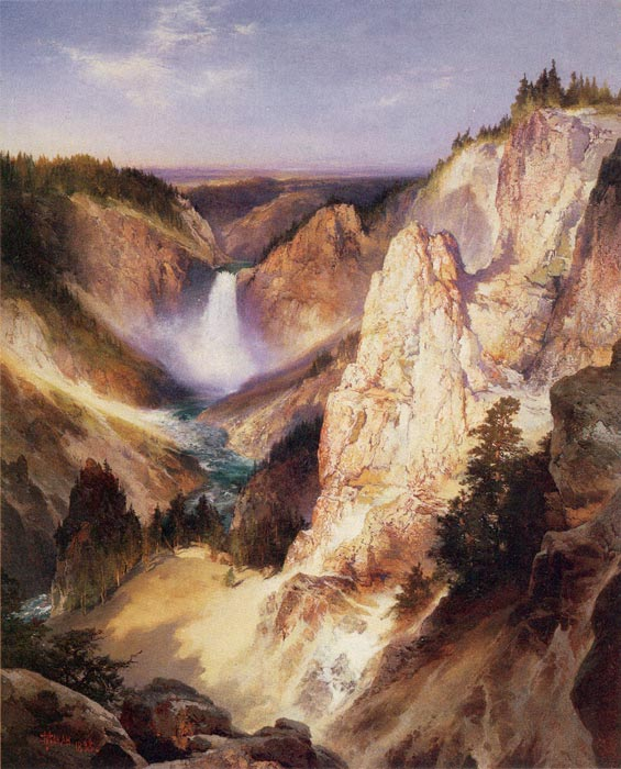 Paintings Reproductions Moran, Thomas Great Falls of Yellowstone, 1898