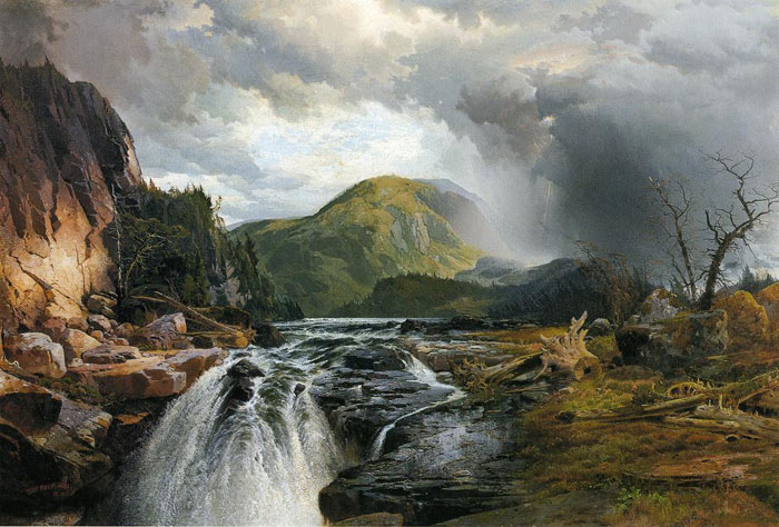 Paintings Reproductions Moran, Thomas The Wilds of Lake Superior, 1864