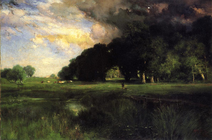 Paintings Reproductions Moran, Thomas Approaching Storm, 1889