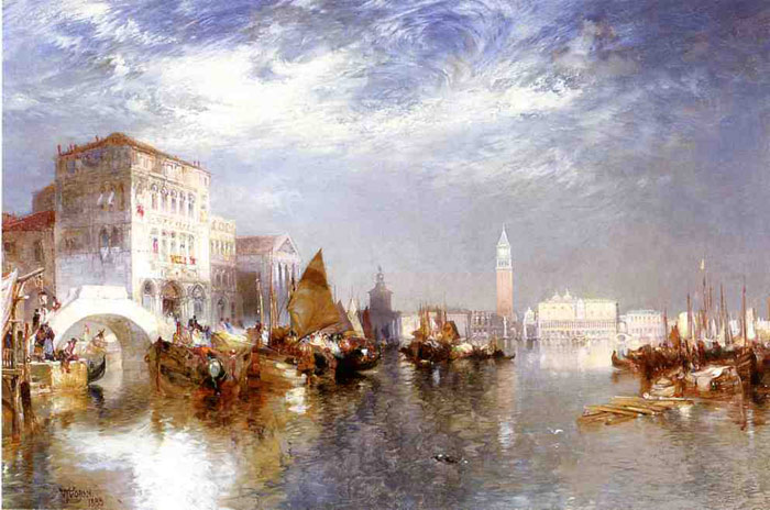 Paintings Reproductions Moran, Thomas Glorious Venice, 1888