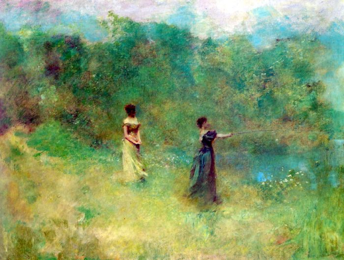 Paintings Reproductions Dewing, Thomas Wilmer Summer, 1890