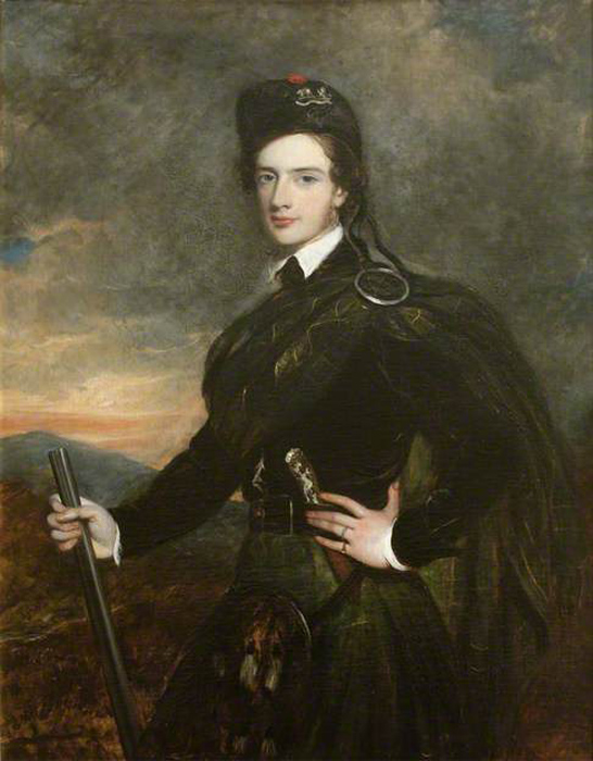 Custom PaintingsReproductions-Francis Garden, Lord Gardenstone, 5th of Troup, in His Kilt and Plaid by Tilly Kettle