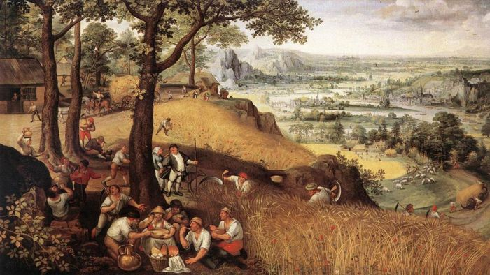Landscape in Summer, 1585 Valkenborch, Lucas van Painting Reproductions