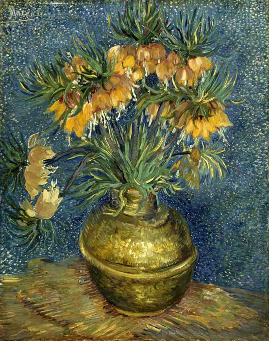 Paintings Reproductions Vincent van Gogh Fritillaries in a Copper Vase, 1887