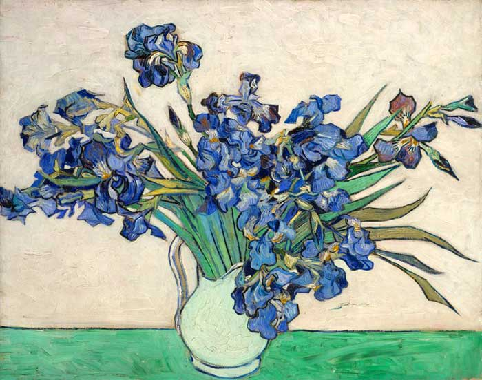 Paintings Reproductions Vincent van Gogh Still life with Irises, 1890