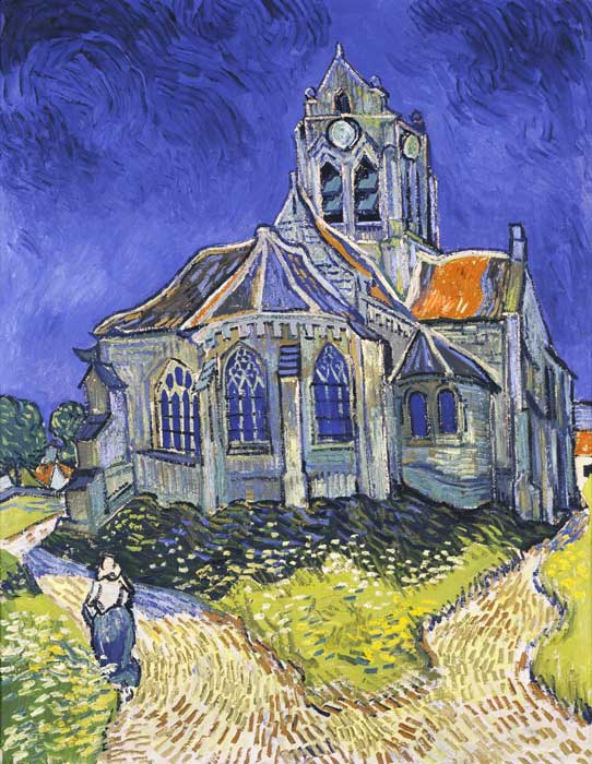 Vincent van Gogh  Reproductions-The Church in Auvers sur Oise, 1890