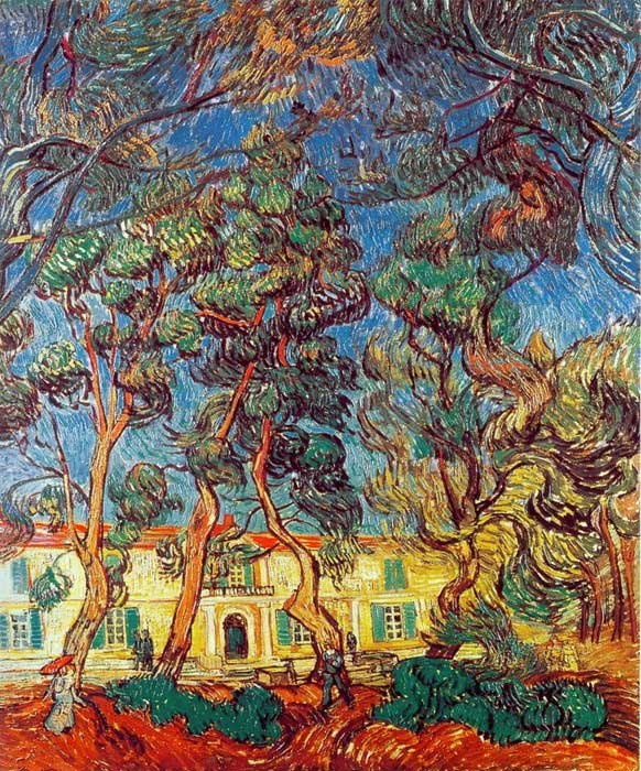 Paintings Reproductions Vincent van Gogh The Grounds of the Asylum, 1889
