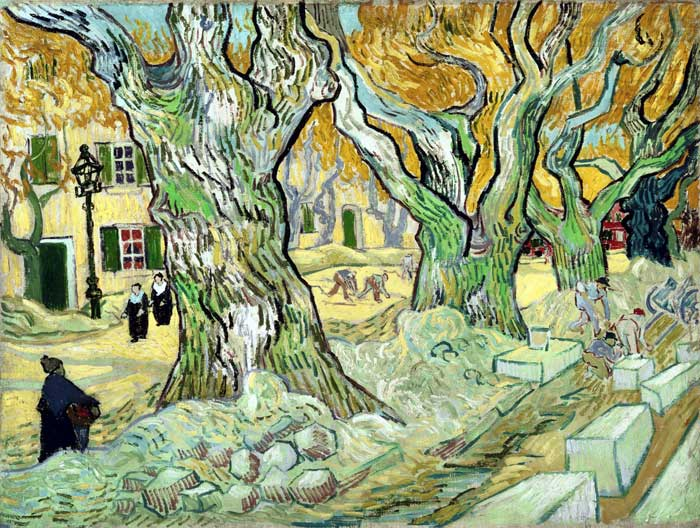 Paintings Reproductions Vincent van Gogh The Road Menders, 1889