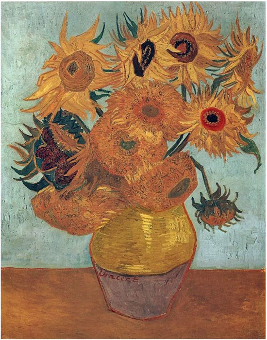 Paintings Reproductions Vincent van Gogh Vase with Twelve Sunflowers, 1889