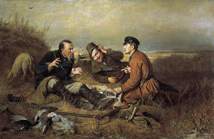 Paintings Reproductions Perov, Vasily Grigoryevich Hunters. 1871