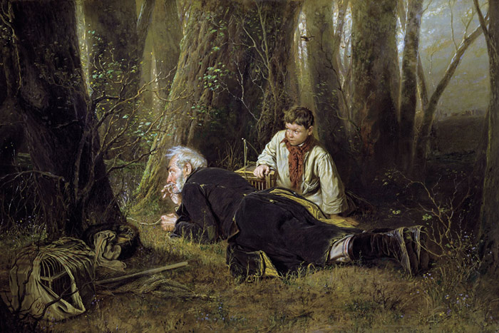 Vasily Grigoryevich Perov Reproductions-Bird Hunting. 1870