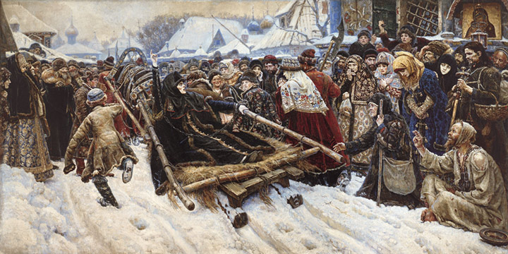 Paintings Reproductions Surikov, Vasily Ivanovich Feodosia Morozova. 1887
