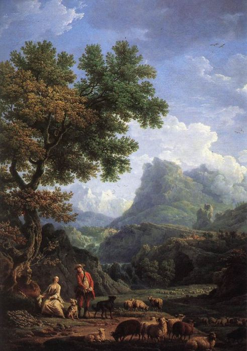 Claude-Joseph Vernet Reproductions-Shepherd in the Alps
