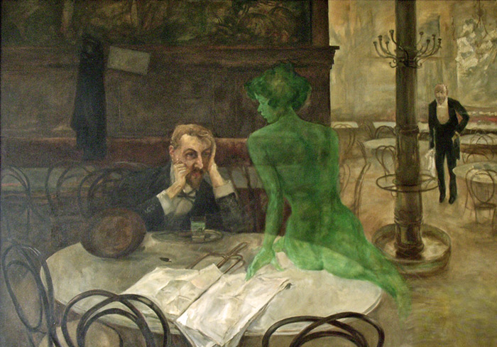 Victor Oliva Reproductions-Absinthe Drinker