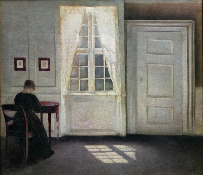 Custom PaintingsReproductions-Interior from Strandgade, Sunlight on the Floor, 1901