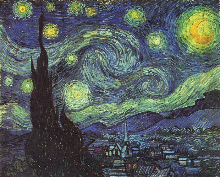 Vincent van Gogh  Reproductions- Starry Night, 1889